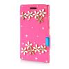 MOONCASE Luxury Flower Crystal Leather Side Flip Wallet Pouch ЧЕХОЛДЛЯ Nokia Lumia 925 чехол для nokia lumia 925 цвет белый