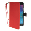 MOONCASE Litch Skin Leather Side Flip Wallet Card Slot Pouch Stand Shell Back ЧЕХОЛДЛЯ Samsung Galaxy Note 4 N9100 Red hat prince protective case w call display stand for samsung galaxy note 4 n9100 white