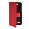 MOONCASE Slim Leather Side Flip Wallet Card Slot Pouch with Kickstand Shell Back чехол для Huawei Honor Holly Red leather case left and right flip for huawei honor v8 rose red