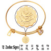 Модные браслеты 12 Знак Браслеты Золото 18K / Platinum покрытием циркония ювелирные изделия шарма Близнецы Браслеты для женщин подарок на день рождения