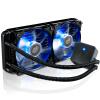 CoolerMaster 240M CPU Water Cooled Radiator (мультиплатформенная / встроенная вода Cool / Silent / High Efficiency Water Pump / Double Blue Light Fan) Черный