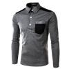 2 цвета плюс Размер мужские рубашки с карманами с длинным рукавом свою очередь-вниз воротник рубашки зимние рубашки рубашки
