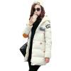 Зимние Женщины мультфильм хлопок проложенный с капюшоном куртки траншеи Длинные пальто Шинель Куртка