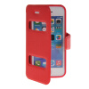 MOONCASE View Window Leather Side Flip Pouch Stand Shell Back ЧЕХОЛДЛЯ Apple iPhone 5C Red roar korea noble leather stand view window case for iphone 7 4 7 inch orange
