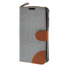 MOONCASE Alcatel One Touch POP C5 , Leather Flip Card Holder Pouch Stand Back ЧЕХОЛ ДЛЯ Alcatel One Touch POP C5 Grey alcatel one touch pop 3 5025d silver