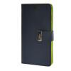 цена на MOONCASE чехол для Asus Zenfone 5 Flip Leather Wallet Card Slot Bracket Back Cover Blue
