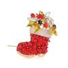 разноцветные кристалл елку boot санта - брошь Pins рождественский подарок