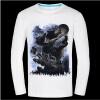 Causul Мужская одежда Night Wolf 3D животных Печатные майка Мужчины, черный хлопок Один-образным вырезом Slim Fit Хип-хоп Футболка Мужская одежда