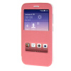 MOONCASE Side Flip Hard board Slim Leather Bracket Window чехол для Cover Huawei Ascend Y625 розовый