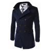CT&HF Мужчины Мода Досуг контракту Темперамент пальто Зимние Элегантный Шерстяной утолщение Pure Color Coat синдром счастья или ложь по контракту