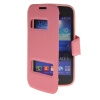 MOONCASE View Window Leather Side Flip Pouch Stand Shell Back ЧЕХОЛ ДЛЯ Samsung Galaxy Ace 3 S7270 / S7272 Pink luxury stand flip