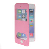 MOONCASE View Window Leather Side Flip Pouch Stand Shell Back ЧЕХОЛ ДЛЯ Apple iPhone 6 ( 4.7 inch ) Pink mooncase view window leather side flip pouch stand shell back чехол для apple iphone 4 4s blue