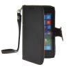 MOONCASE Лич кожи Кожа Флип сторона кошелек держателя карты Чехол с Kickstand чехол для Nokia Lumia 520 Черный чехол deppa prime classic для nokia n9 lumia 800 кожа черный