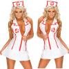 горячая моды дамы костюм медсестры костюм сексуально белье танк платье набор V шею