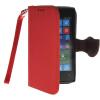 MOONCASE Лич кожи Кожа Флип сторона кошелек держателя карты Чехол с Kickstand чехол для Nokia Lumia 520 красный