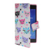 MOONCASE Pattern Style Leather Side Flip Wallet Card Slot Pouch Stand Shell Back ЧЕХОЛ ДЛЯ Sony Xperia Z2 mooncase classic cross pattern leather side flip wallet card pouch stand soft shell back чехол для sony xperia m2 azure