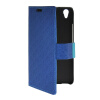 MOONCASE Slim Leather Side Flip Wallet Card Slot Pouch with Kickstand Shell Back чехол для Huawei Honor 4 Play Blue wkae double side embossing rose flower synthetic leather wallet case soft silicone back cover with flip kickstand and lanyard for huawei nova
