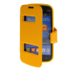 MOONCASE View Window Leather Side Flip Pouch Stand Shell Back ЧЕХОЛ ДЛЯ Samsung Galaxy Trend Lite S7390 / S7392 Yellow чехол для samsung s7392 galaxy trend partner flip case black
