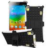 все цены на MOONCASE Lenovo K3 Note шин Текстура Hybrid Kickstand PC + TPU Полное Прочный защитный 2 в 1 Чехол для Lenovo K3 Note [A7000] (5.5