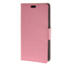 MOONCASE Simple Leather Flip Wallet Card Slot Stand Back чехол для LG Leon H340N Pink business card holder women vogue thumb slide out stainless steel pocket id credit card holder case men