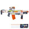 Hasbro (Hasbro) NERF Обогреватель электрический мягкий пистолет ECS-10 многозадачность дистанционного передатчика (белый оранжевый) Открытый игрушки B1539 оружие игрушечное hasbro hasbro бластер nerf n strike mega rotofury