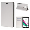 MOONCASE ЧЕХОЛ ДЛЯ LG G4 Beat G4S Premium PU Flip Leather Wallet Card Holder Bracket Back Pouch White 01 mooncase litchi skin золото chrome hard back чехол для cover lg g4 золото