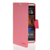 MOONCASE Classic cross pattern Leather Side Flip Wallet Card Slot Pouch Stand Shell Back ЧЕХОЛДЛЯ HTC Desire 816 Pink
