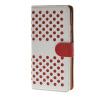 MOONCASE горошек Слот карты Кожаный чехол Чехол Подставка Shell чехол для Apple IPhone 6 Plus (5,5 дюйма) белый красный mooncase чехол