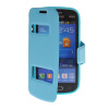MOONCASE View Window Leather Side Flip Pouch Stand Shell Back ЧЕХОЛ ДЛЯ Samsung Galaxy Trend Lite S7390 / S7392 Blue чехол для samsung s7392 galaxy trend partner flip case black