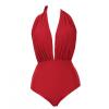 Новый сексуальный красный повод талии Купальник бикини женский купальник