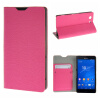 MOONCASE Sony Xperia Z3 Compact ( Z3 Mini ) ЧЕХОЛДЛЯ Flip Leather Wallet Card Holder Bracket Back Pouch Hot pink заглушка usb sony xperia z3 compact белая