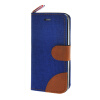 MOONCASE iPhone 5 / 5S , Leather Wallet Flip Card Holder Pouch Stand Back ЧЕХОЛ ДЛЯ Apple iPhone 5/ 5S Dark blue mercury goospery for iphone se 5s 5 canvas dairy leather wallet cover dark blue