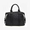 Мода сплетенный сумка Бостон Сумка 2016 новые случайные женщин сумка большая женская сумка кожаные сумки