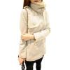 CT&HF Женщины Мода Досуг пальто утолщение Pure Color шерстяные пальто корейских женщин темперамент элегантный двубортный пиджак пальто katerina bleska