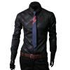 CT&HF Мужчины Мода Досуг рубашка Корея элегантный темперамент с длинными рукавами рубашки Личность Красивый лацканы Сельма хлопок рубашка рубашки timberland рубашка