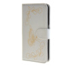 MOONCASE Butterfly pattern Leather Wallet Flip Card Slot Bracket Back чехол для Samsung Galaxy S6 Edge White mooncase litchi skin золото chrome hard back чехол для cover samsung galaxy s6 edge красный