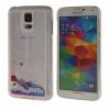 MOONCASE 3D Плывун Жидкость течет Шинни Жесткий пластиковый прозрачный Ясно чехол для Samsung Galaxy S5 красный promate tava s5 чехол для samsung galaxy s5 blue