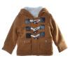 Детские теплый флис с капюшоном Пальто Рог Кнопка Верхняя одежда Мальчик детский зимний комбинезон малышей куртки
