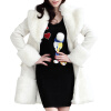 CT&HF Женщины Чистый Цвет Шерстяной пальто контракту нагрудные Сельма Пальто Темперамент Элегантный сгущает пальто Сладкая пальто mango пальто shadow