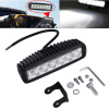 Автомобиль грузовой 18W LED Work Light Bar Реверсивный прожектор Джип Boat 4WD 12V 24V oslamp 22inch 324w tri row straight led light bar chips led work light combo beam 12v 24v truck suv 4wd 4x4 offroad led bar
