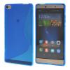 MOONCASE Huawei P8 Max Дело S - линия Гибкая Прочный силиконовый гель ТПУ Тонкий чехол для Huawei Ascend P8 Max синий