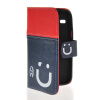 MOONCASE Leather Side Flip Wallet Card Slot Pouch Stand Shell Back ЧЕХОЛДЛЯ Samsung Galaxy Core I8260 I8262 Red Blue mooncase soft silicone gel side flip pouch hard shell back чехолдля samsung galaxy s6 grey