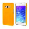 MOONCASE Жесткий Прорезиненные Резина Оболочка Вернуться Защитная крышка чехол для Samsung Galaxy Z1 Z130H желтый