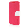 MOONCASE Leather Side Flip Pouch Stand Ultra Slim Shell Back ЧЕХОЛ ДЛЯ HTC Desire D510 Hot pink