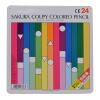 Sakura цветные карандаши 24 цветов (железная коробка)