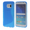 MOONCASE S - линия Мягкий силиконовый гель ТПУ защитный чехол гибкой оболочки Защитный чехол для Samsung Galaxy S6 Edge синий ультра тонкий защитный чехол для samsung galaxy s6 edge
