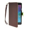 MOONCASE Litch Skin Leather Side Flip Wallet Card Slot Pouch Stand Shell Back ЧЕХОЛДЛЯ Samsung Galaxy Note 4 N9100 Brown 6000mah mobile power bank w led flashlight white grey