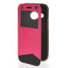 MOONCASE Window Leather Side Flip Wallet Card Slot Pouch Stand Soft Shell чехол для Htc One Mini 2 ( M8 Mini ) Hot pink mooncase classic cross pattern leather side flip wallet card pouch stand soft shell чехол для motorola moto g hot pink