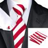 2016 Новый горячий продавая Vogue Мужчины Шелковый полосатый галстук Установить Высокое качество 100% шелковый галстук носовой платок запонки Набор для формальной свадьбы полосатый галстук