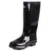 Потяните назад ботинки дождя мужские высокие трубки водонепроницаемые ботинки противоскольжения ботинки открытые сапоги наборы обуви HXL818 черные высокие трубки 43 ярдов